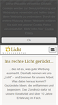 Mobile Preview of licht-werbeagentur.de